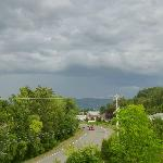 View from our Veranda of coming summer storm
