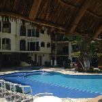 Pool area seen from the palapa