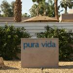 Pura Vida sign outside the property