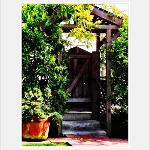 lower garden exit.