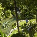 Lush gardens at Tanjung Aru