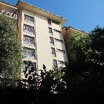 backside of hotel