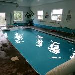 The motel's indoor pool