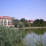 озеро перед отелем