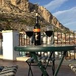 The view from the roof terrace, Salud!