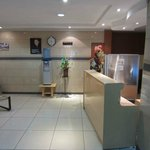 Reception desk at Chester House