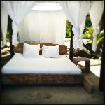 Beach Bed on the private beach