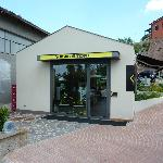 The official VR46 store round the back.