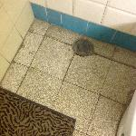 Dirty floor and Awful dirty bath mat Rm 6
