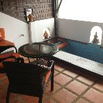 terrasse/jacuzzi chambre deluxe
