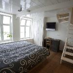 Bedroom with adjustable twin beds