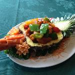 Chicken Cantonese Style in Pineapple Dragon Boat