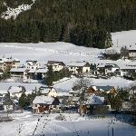View from the mountains to the village
