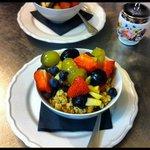 delicious fresh fruit & yoghurt breakfast