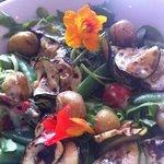 beautifull fresh salad with season veg
