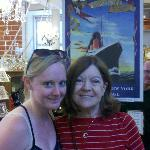 My wife posing with Molly Brown's great granddaughter, Hellen.