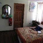 large room and bathroom door