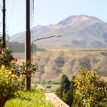Vista desde la entrada, el Cerro Nahuel Pan