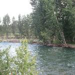 The Methow River which is right by the cabins