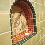 Tile work in the Quail bathroon
