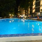 the big pool by night
