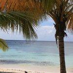 visu de la plage en prenant un apero mamajuana