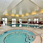 Indoor heated pool and hot tub