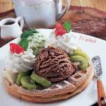 Waffle gelato