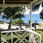 """View from within """"our"""" ocean view villa with aircon"""