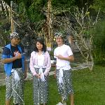 My son, my daughter & my host son @ Tirta Ayu