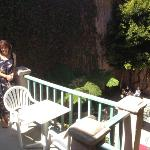 our balcony overlooking the courtyard.