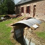 Restored trench in rear garden