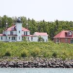 Raspberry Island lighthouse and home