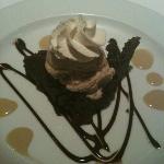 brownie with coffee ice cream