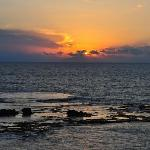 Sun sets over the sea from Byblos Sur Mer Hotel