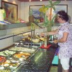 Cogiendo la comida