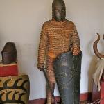 Rüstung des 12. J. gekochtes Leder verstärkt mit Eisenringen