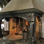 Riesiger Ofen in der Burgküche