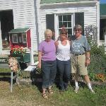 Charlene, me and Rick on the side of the house
