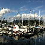 Boats on the walk into central Vancouver