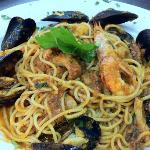 spaghetti with sea food