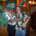 My friend Pam and me in the Calypso