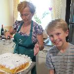 Making lemon cake with Nonna Ornella