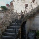 Stairway to upper floors