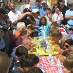 Charity Waffle Eating Contest