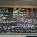 wine and beer menu