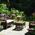 Reading area in garden