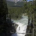 The Sunwapta Falls, close to the Lodge
