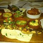 Lebanese burnt lamb cutlet and dry chicken platter.........