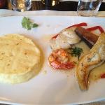 parillada de poisson et purée maison